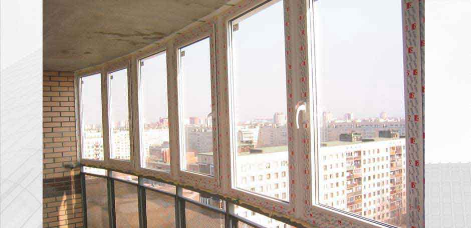 Остекление балкона г. Киев 2014